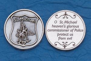 25-Pack - Religious Coin Token - Policeman's Prayer- St Michael