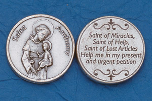 25-Pack - Religious Coin Token - St Anthony with Prayer