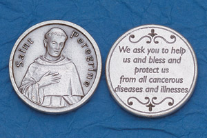 25-Pack - Religious Coin Token - St Peregrine with Prayer