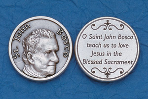 25-Pack - Religious Coin Token - St John Bosco with Prayer