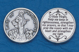 25-Pack - Religious Coin Token - Lady of Medjugorje with Prayer