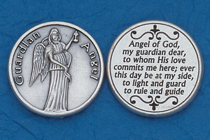 25-Pack - Religious Coin Token - Guardian Angel with Prayer