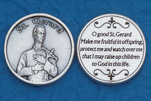 25-Pack - Religious Coin Token - St Gerard with Prayer