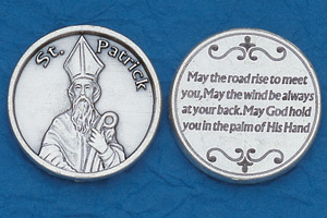 25-Pack - Religious Coin Token - St Patrick with Prayer
