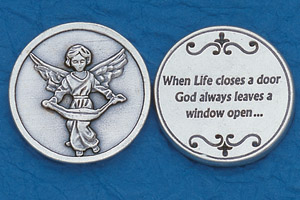 25-Pack - Religious Coin Token - Angel with Prayer