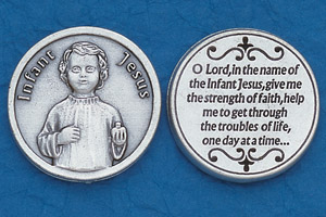25-Pack - Religious Coin Token - Infant Jesus with Prayer Coin