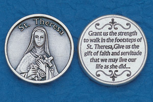 25-Pack - Religious Coin Token - St Theresa Coin