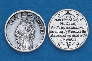 25-Pack - Religious Coin Token - Lady of Mt Carmel Coin