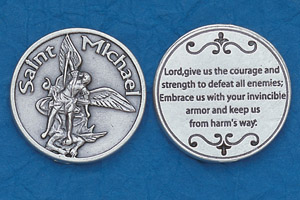 25-Pack - Religious Coin Token - St Michael for Servicemen