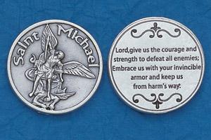25-Pack - Religious Coin Token - St Michael for Servicemen