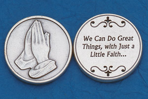 25-Pack - Religious Coin Token - We can do great things with just a little faith