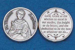 25-Pack - Religious Coin Token - St Thomas Aquinas