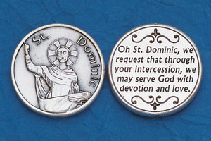 25-Pack - Religious Coin Token - St Dominic