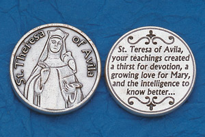25-Pack - Religious Coin Token - St Teresa of Avila