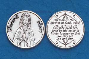 25-Pack - Religious Coin Token - Blessed Mary
