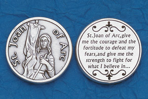 25-Pack - Religious Coin Token - St Joan of Arc