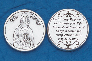 25-Pack - Religious Coin Token - St Lucy