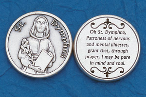 25-Pack - Religious Coin Token - St Dymphna
