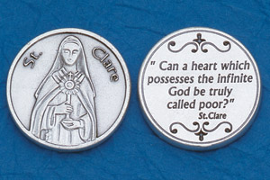 25-Pack - Religious Coin Token - St Clare
