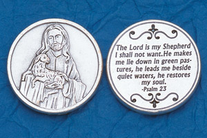 25-Pack - Religious Coin Token - The Lord is my Shepherd