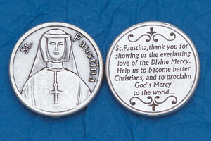 25-Pack - Religious Coin Token - St Faustina-