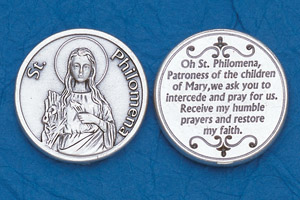 25-Pack - Religious Coin Token - St Philomena-