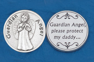 25-Pack - Religious Coin Token - Guardian Angel- Daddy