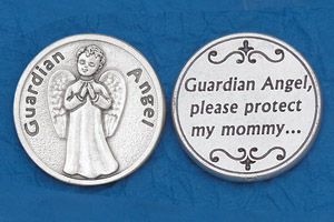 25-Pack - Religious Coin Token - Guardian Angel- Mommy-
