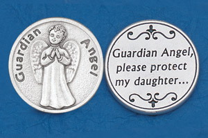 25-Pack - Religious Coin Token - Guardian Angel- Daughter-