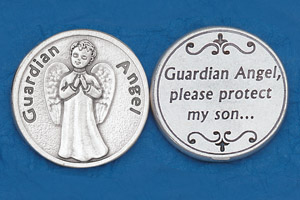 25-Pack - Religious Coin Token - Guardian Angel- Son-