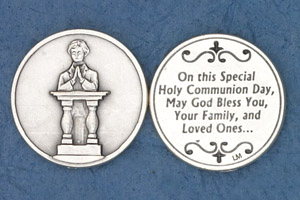 25-Pack - Coin- Boy Kneeling- On this Special Holy Communion