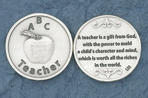25-Pack - A Teacher is a gift from God - Coin Sold in