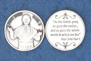 25-Pack - Pope John Paul II- 'Family' Coin disc