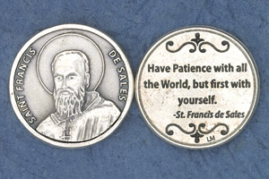 25-Pack - Religious Coin Token - Saint Frances de Sales
