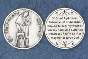 25-Pack - Religious Coin Token - Saint Alphonsus Ligouri (Arthritis)