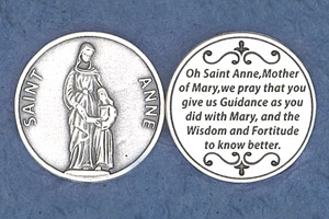 25-Pack - Religious Coin Token - Saint Anne