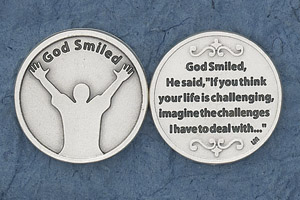 25-Pack - Religious Coin Token - God Smiled