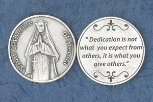 25-Pack - Religious Coin Token - St Catherine of Sienna