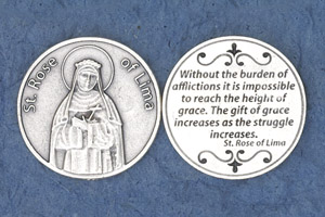 25-Pack - Religious Coin Token - St Rose of Lima