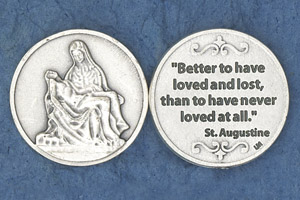 25-Pack - Religious Coin Token - Better to have loved and lost