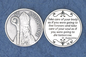 25-Pack - Religious Coin Token - St Augustine