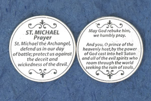 25-Pack - Religious Coin Token - Saint Michael Prayer