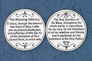25-Pack - Religious Coin Token - The Morning Offering