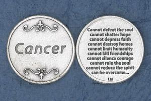 25-Pack - Religious Coin Token - Cancer