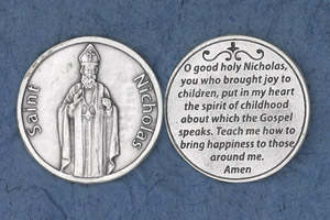 25-Pack - Religious Coin Token - Saint Nicholas