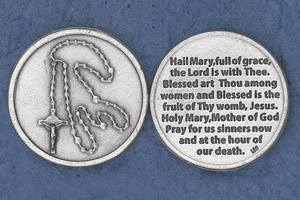 25-Pack - Religious Coin Token - The Hail Mary