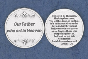 25-Pack - Religious Coin Token - Our Father