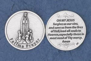25-Pack - Religious Coin Token - Fatima Prayer