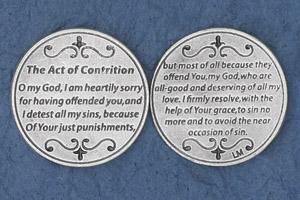 25-Pack - Religious Coin Token - The Act of Contrition