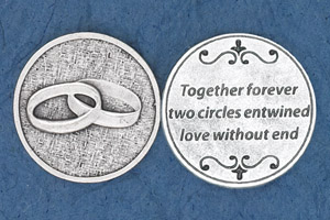 25-Pack - Religious Coin Token - Together Forever For Weddings and Anniversaries